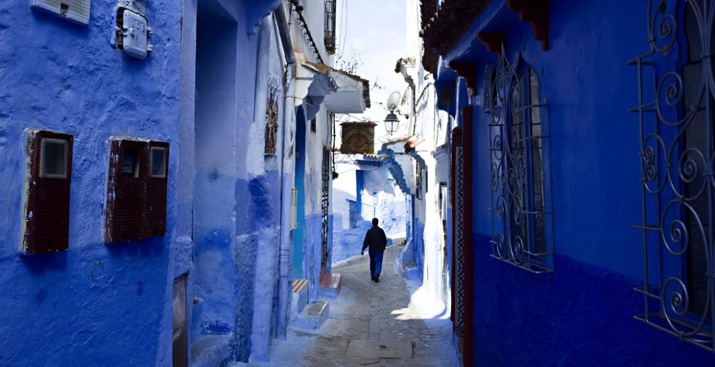青で彩られた街シャウエン